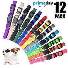 12 Pieces Puppy Collars Super Soft Nylon Whelping Puppy Id Adjustable Breakaway