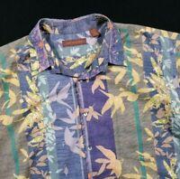 Tori Richard Floral Aloha Hawaiin Button Up Shirt Size 2XL XXL Men's
