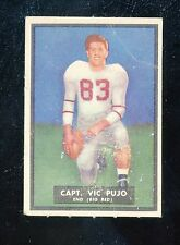 "1951 Topps Magic #57   Vic Pujo   Cornell   ""creased""    LOOK!!"
