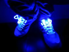 Paio di Lacci LED Scarpe Luminosi Stringhe FLASH LIGHT SHOES Color BLU scarpa