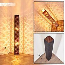 Retro Design Wohn Schlaf Raum Leuchten Steh Boden Stand Lampe Stoff schwarz/gold