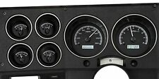 1973-87 Chevy C10 Black Alloy White Dakota Digital KPH Celsius Metric Gauge Kit