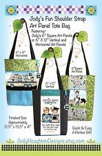 Jody's FUN SHOULDER STRAP ART PANEL TOTE BAG Pattern 12.5