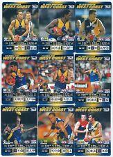 2004 Teamcoach WEST COAST Team Set (9 Cards) ****