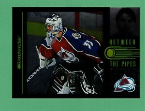 1997-98 DONRUSS BETWEEN THE PIPES PATRICK ROY INSERT 2344/3500 AVALANCHE