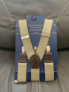 New Club Room Men's One Size Khaki Suspenders