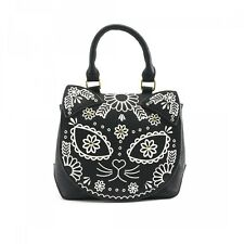 Loungefly Sugar Skull Cat Crossbody Bag Punk Vintage Goth Handbag Purse LFTB0562
