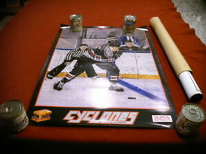 Vintage 1991 ECHL Hockey Poster Cincinnati Cyclones Minor League