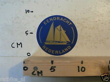 STICKER,DECAL EENDRACHT NEDERLAND ZEILBOOT SCHIP BOOT