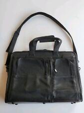 Custom Leather messenger  laptop bag computer case shoulder bag for men black +