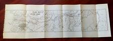 1915 Map Plan of the River Yodo Japan Kawachi Settu Yamasiro Osaka Fusimi