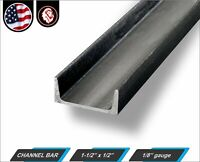 """Mild Steel  A36 Ships UPS Channel Iron 1 Piece 4/"""" x 48/"""" 6.25# per ft"""