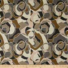 ORTENSIA BRONZE Robert Allen @ Home Brown Floral Drapery Upholstery Print Fabric
