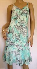 Kaleidoscope Chiffon Sleeveless Dresses Midi