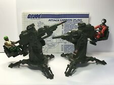 GI Joe FLAK Lot of 2 100% Complete 1982 with Barbecue and Heavy Duty