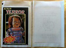 RARE 1980's PERU ALBUM TERROR SEALED PACK FREDDY KRUEGER/CHUCKY NAVARRETE HORROR