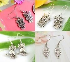 Jewellery Silver Owl Mix Stud Earring Wholesale New Lady 4 Pair Charm Fashion