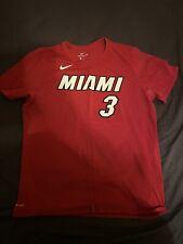 Nike Miami Heat Dwyane Wade Red Player T-Shirt