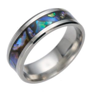 Titanium Steel Fashion Abalone Shell Ring