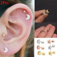 Acero quirurgico Tragus pendientes Ear studs Cartílago Helix Forma de estrella