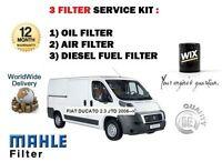 Pour Fiat Ducato 2.3 JTD Diesel 2006- > Neuf Service Kit Air Huile Essence À (3)