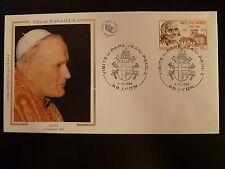FRANCE PREMIER JOUR FDC YVERT 2418   PAPE JEAN PAUL II   1,80F  LYON 1986