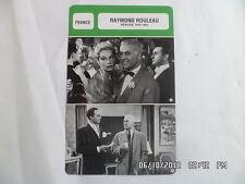 CARTE FICHE CINEMA RAYMOND ROULEAU PERIODE 1945 1965