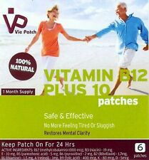 VITAMIN B12 Patches with FREE additional Vitamins, 100% Natural. 1 Month Supply.