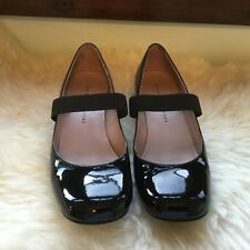 MBMJ Marc By Marc Jacobs 37/7 Mary Janes Black Patent Leather Elastic Low Heel