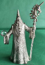 5� Ray Lamb Unicorn Wizard 1990 Perth Pewter #Fa84 Figure Magic Crystal Figurine