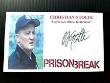 """""""PRISON BREAK"""" CHRISTIAN STOLTE AUTOGRAPHED 3X5 INDEX CARD"""