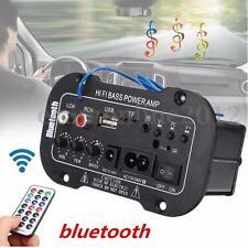 Universal Auto Car Bluetooth Hifi Power Bass Amplifier AMP USB TF Remote Control