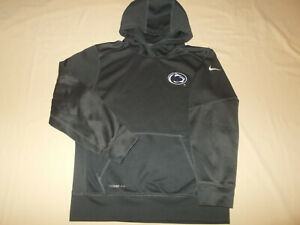 NIKE THERMA=FIT NCAA PENN STATE DARK GRAY HOODED SWEATSHIRT BOYS LARGE EXCELL.