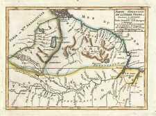 1749 Vaugondy Map of Guyana, Suriname, French Guiana, and Brazil