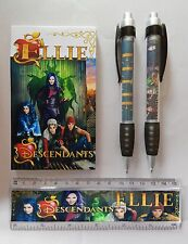 Disney Descendants Stationery Set PERSONALISED ANY NAME Pen Ruler Notebook