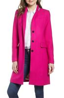 NWT J crew Regent Topcoat in Double-serge Wool, CRANBERRY PUNCH~$350