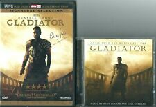 Dvd Set & Cd Lot - Gladiator Dvd Set & Gladiator Cd Soundtrack - Russell Crowe