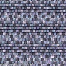 Purple Mosaic Tile, 3d Effect, Solid Vinyl, Fully Washable Wallpaper