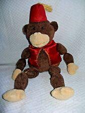 "MONKEY 15"" World Market Cost Plus Brown Floppy Plush 2003  Toy w/Red vest"