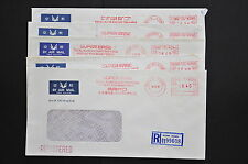 Meter Covers from Yr 1990/91 -5 Hong Kong Registered Covers to Singapore (LM387)