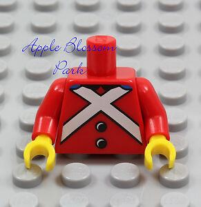 NEW Lego Red SOLDIER MINIFIG TORSO - Nutcracker Pirate Tin Boy Uniform Toy Upper