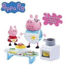 New Peppa Pig Peppa's Messy Kitchen Playset With 2 Figures