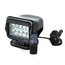 50W Cree Led Search work Spotlight Control Remote Magnetic Black Fish Hunt Boat