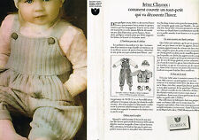 PUBLICITE ADVERTISING 094  1982  IRENE CLAYEUX  layette vetements bébé ( 2 pages
