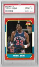 1986 FLEER # 32 PATRICK EWING ROOKIE HALL OF FAME KNICKS GRADED PSA 8 NMMT  8.5?