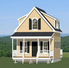 16x20 Tiny House -- 574 sq ft -- PDF Floor Plan -- Model 4
