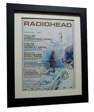 RADIOHEAD+OK Computer+TOUR+POSTER+AD+RARE+ORIGINAL+1997+FRAMED+FAST GLOBAL SHIP