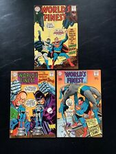WORLDS FINEST #174 175 180 SILVER AGE COMIC BOOK LOT NEAL ADAMS SUPERMAN BATMAN