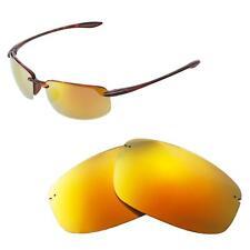Walleva Polarized 24K Gold Replacement Lenses For Maui Jim Ho'okipa Sunglasses