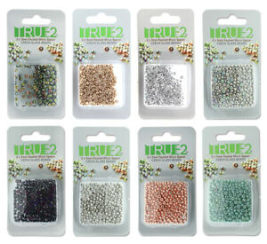 True2™ Faceted Micro Spacers 2x3mm 6g pack for Miyuki Delica Seed Beads 11/0